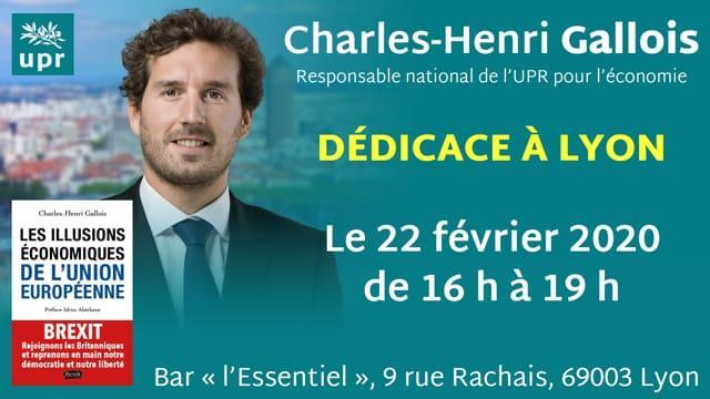 Charles Henri Gallois à Lyon pour dédicacer son livre